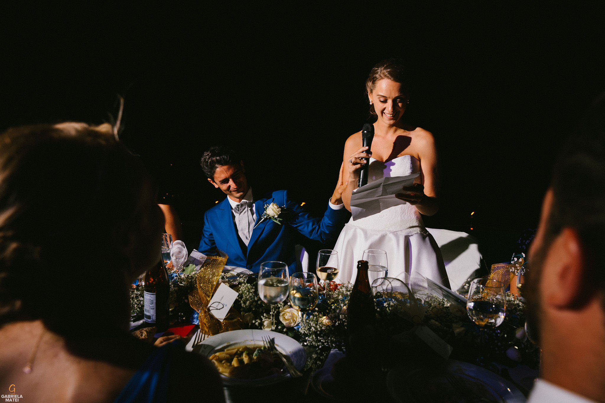 Wedding speeches at wedding