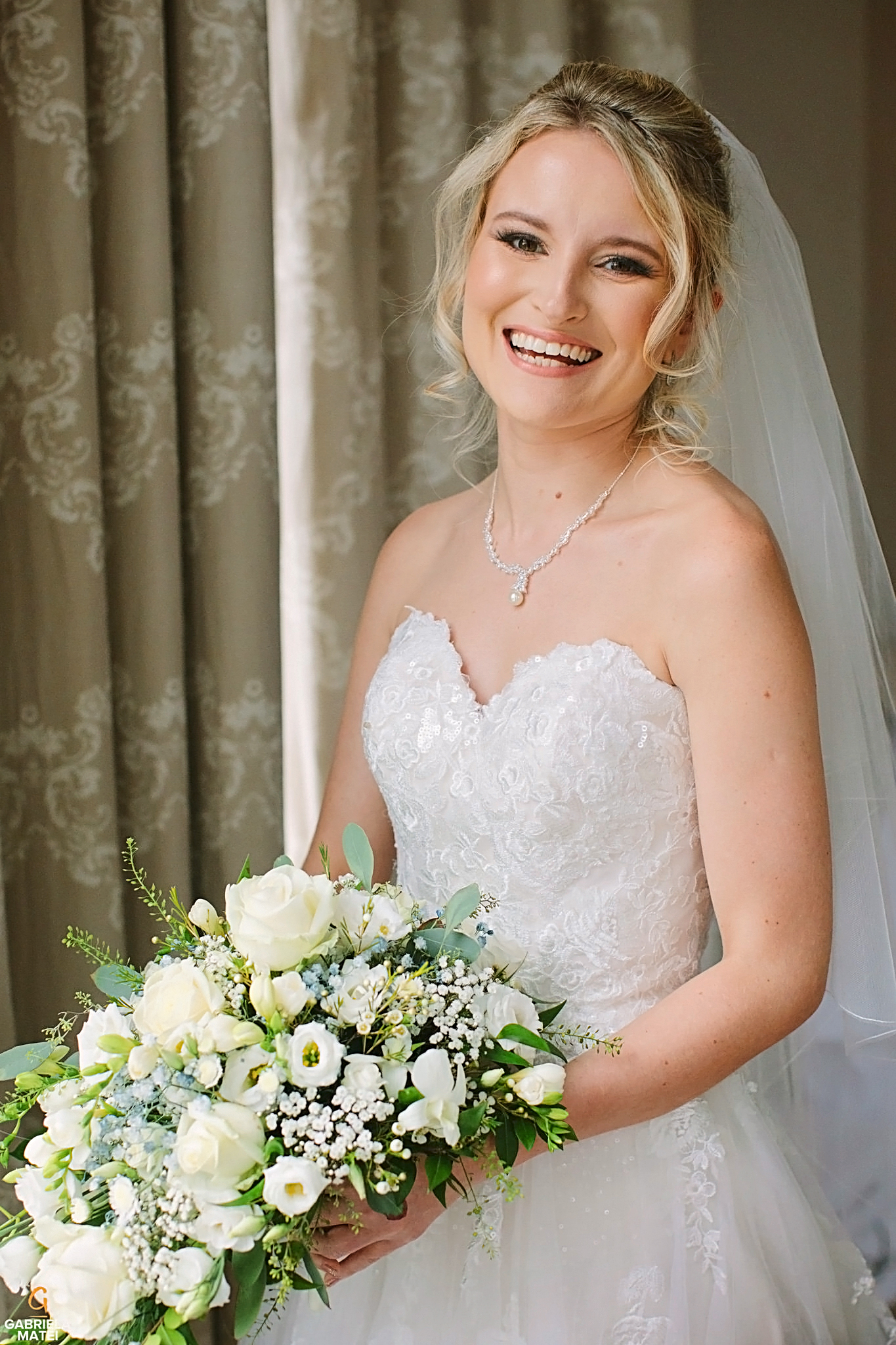 Bridal portrait in London