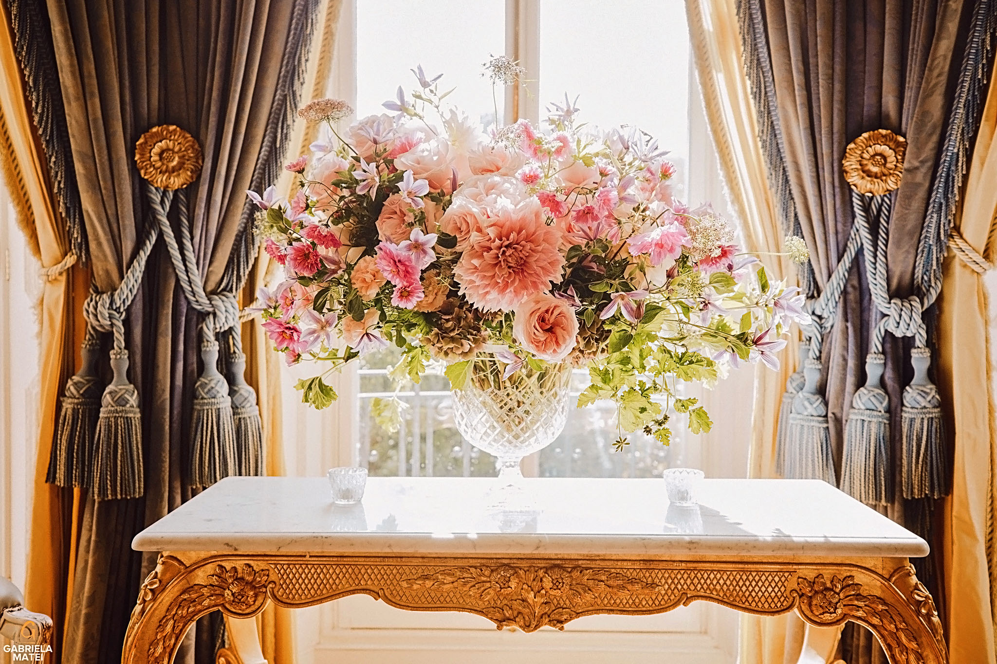 Classy floral arrangement vase at The Ritz in London