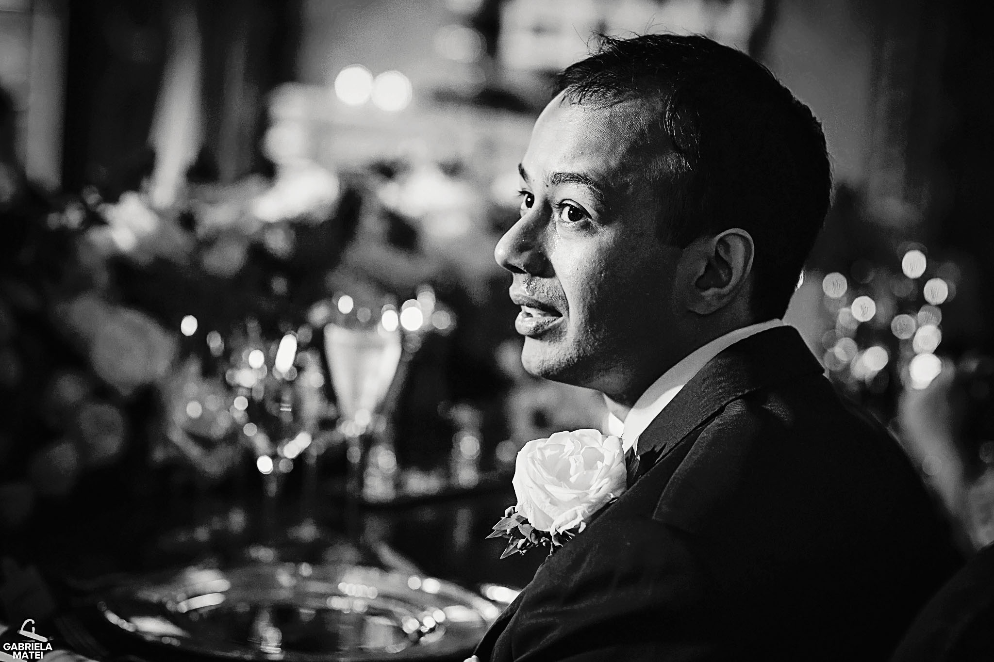 Groom bursting into tears during wedding speeches at The Ritz hotel in London