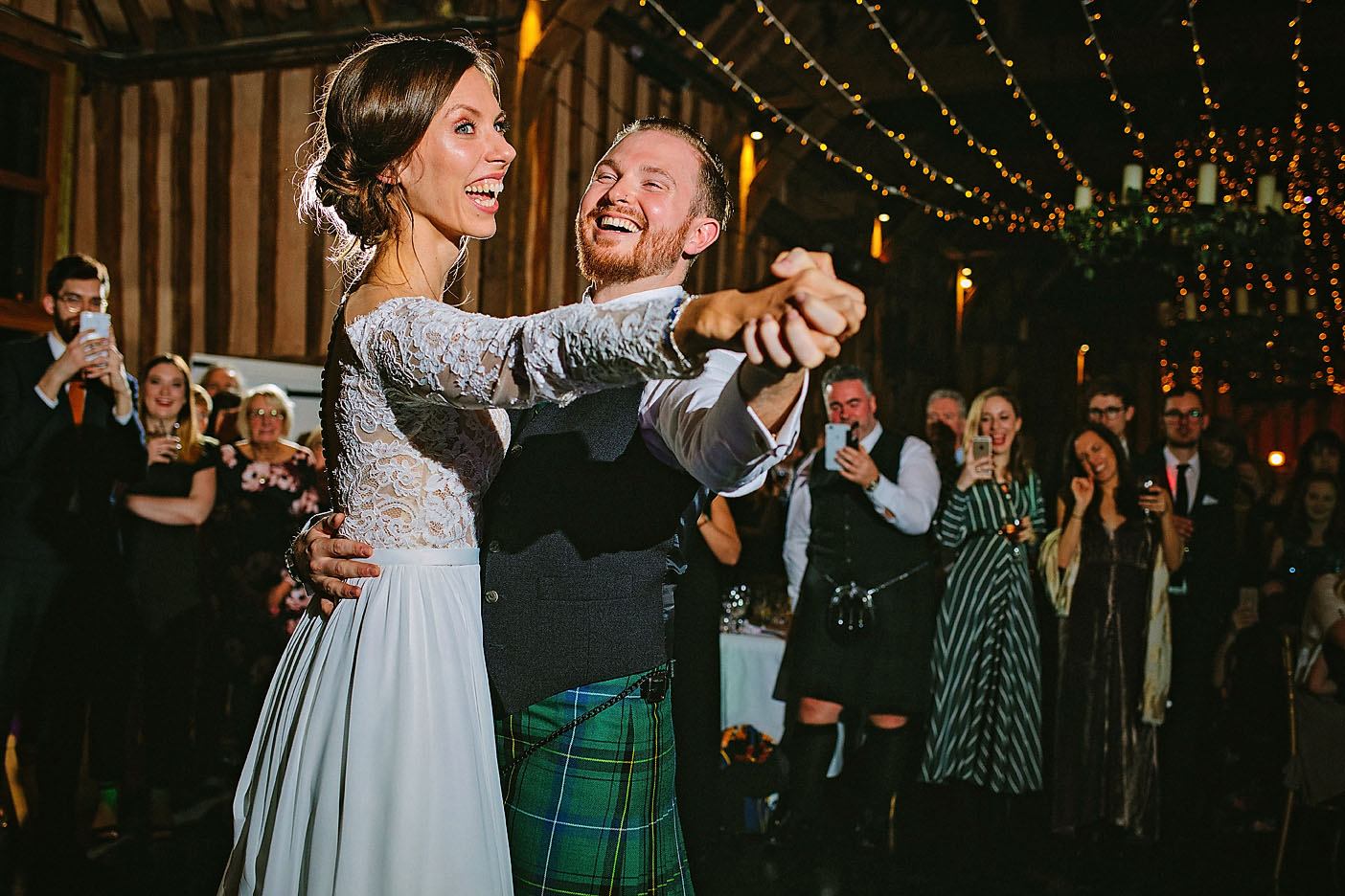Couple's first dance at  Lillibrooke Manor and Barns