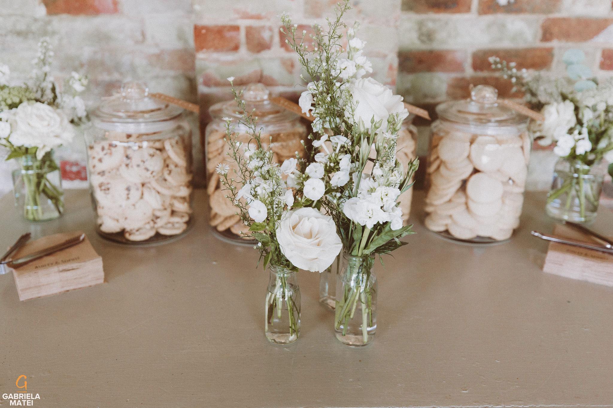 Wedding flowers  at South Stoke Barn wedding venue in Arundel