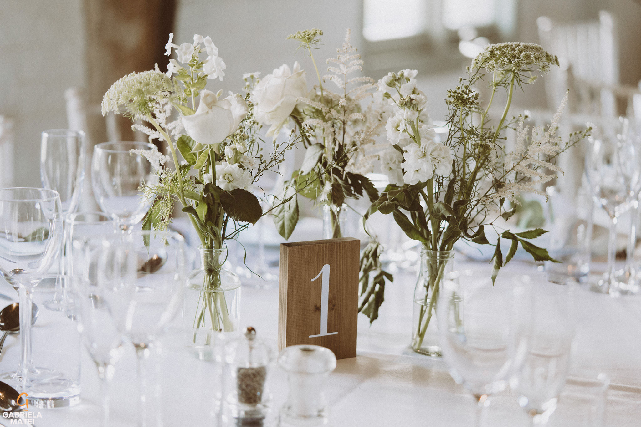 wedding table details at South Stoke Barn wedding venue in Arundel